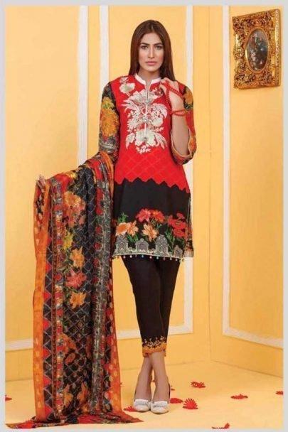 Ayesha Zohaib Embroidered Unstitched 3pcs Linen Vol 1 02.01