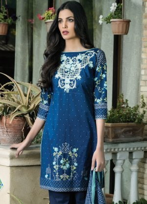 Sahil Designer Embroidered Cotton Collection Vol 14 04B
