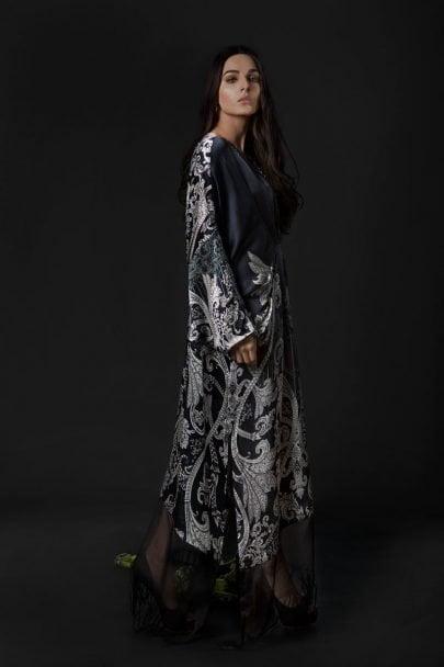 Maria B Unstitched Silk MSK-08-Black
