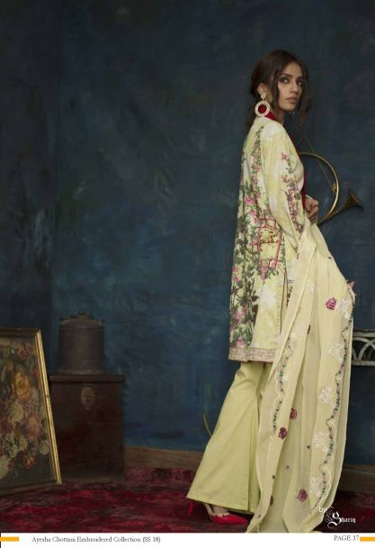 Ayesha Chottani Designer Embroidered Lawn Collection 2018 ST-8B