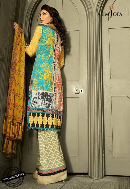 Asim Jofa Luxury Lawn Collection 2018 09A