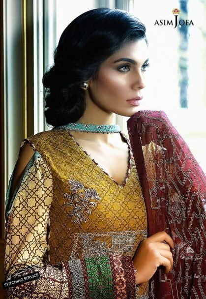 Asim Jofa Luxury Lawn Collection 2018 08A