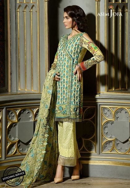Asim Jofa Luxury Lawn Collection 2018 05A