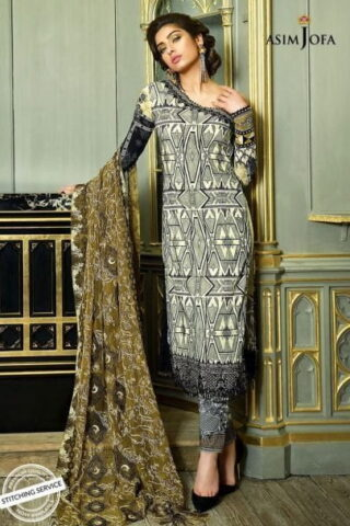 Asim Jofa Luxury Lawn Collection 2018 04A