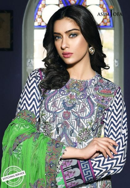 Asim Jofa Luxury Lawn Collection 2018 10A