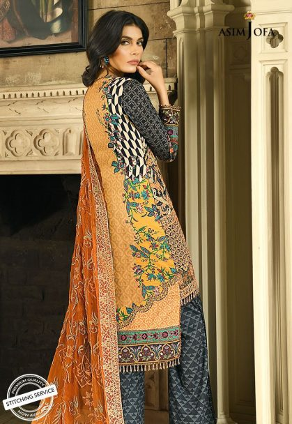 Asim Jofa Luxury Lawn Collection 2018 06A