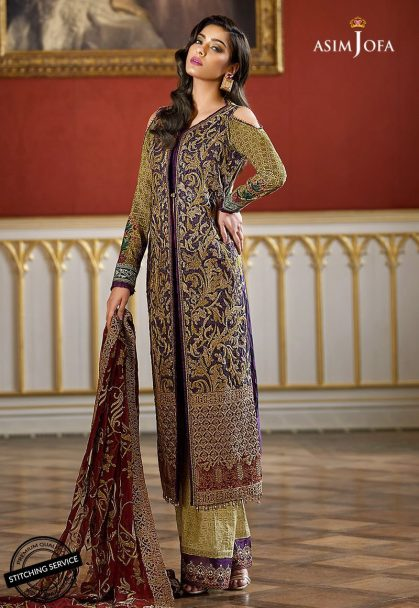 Asim Jofa Luxury Lawn Collection 2018 06B