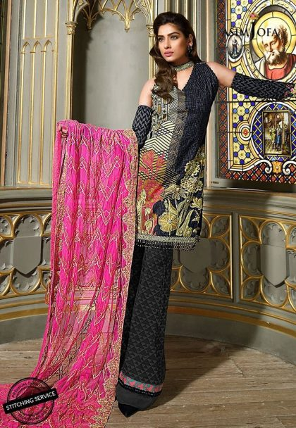 Asim Jofa Luxury Lawn Collection 2018 09B