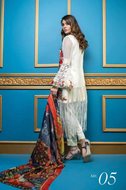 Al Dawood Satin Stiches Exclusive Embroidered Collection 2018 05