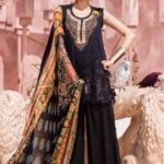Tena Durrani Luxury Lawn 2018 BLACK 12B
