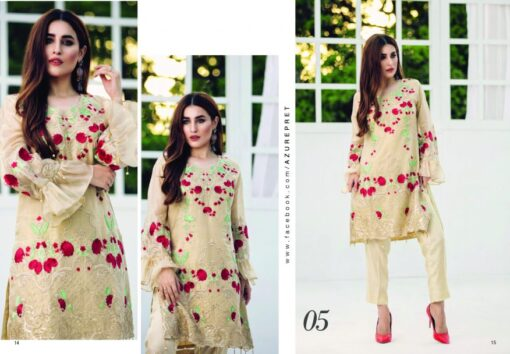 Azure Luxury Embroidered Festive Kurti Collection 2018 05