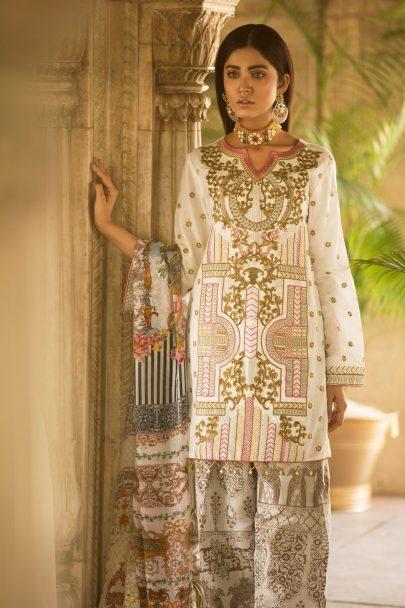 Qalamkar Luxury Festive Collection 2018 Amal 10