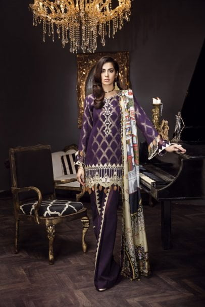 Noor by Sadia Asad Formal Eid Collection 2018 03-AMETHYST