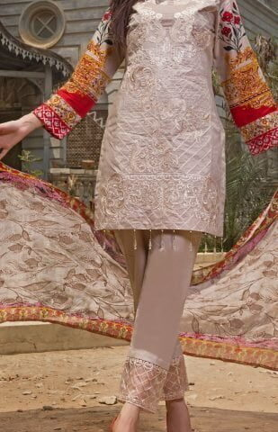 Faustina Embroidered Lawn Collection 2018 145B