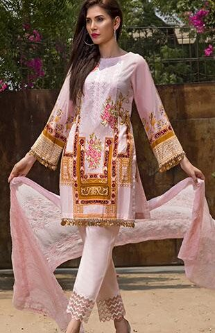 Faustina Embroidered Lawn Collection 2018 148B