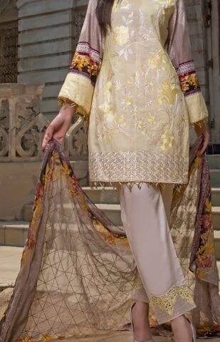 Faustina Embroidered Lawn Collection 2018 149A