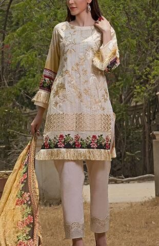 Faustina Embroidered Lawn Collection 2018 149B