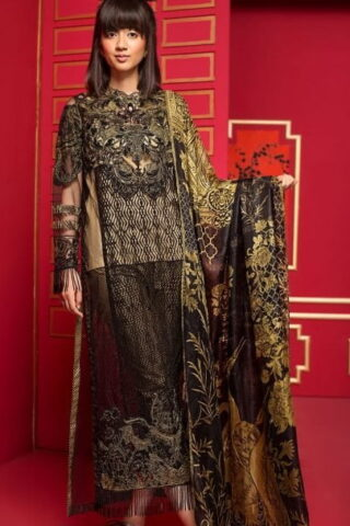 Ittehad Dastaan Luxury Lawn Collection 2018 Silent Night