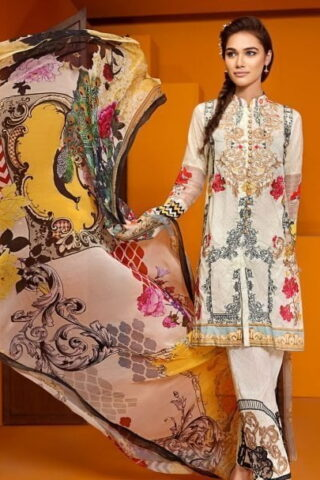 Ittehad Dastaan Luxury Lawn Collection 2018 Takht Murassa