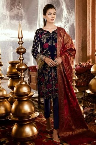 IZNIK FESTIVE VELVET COLLECTION 2018 EVENING BLUE 08