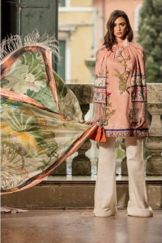 SANA SAFINAZ LUXURY LAWN COLLECTION 2019 ROSA CORALLO - 010A