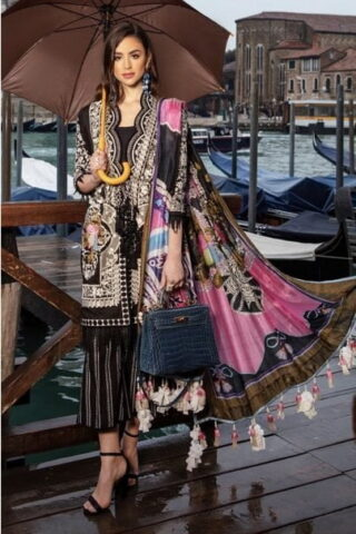 SANA SAFINAZ LUXURY LAWN COLLECTION 2019 SPAGNOLO - 014A