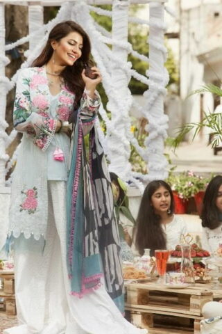 SAIRA RIZWAN LUXURY LAWN EID COLLECTION 2019 05 FADAH