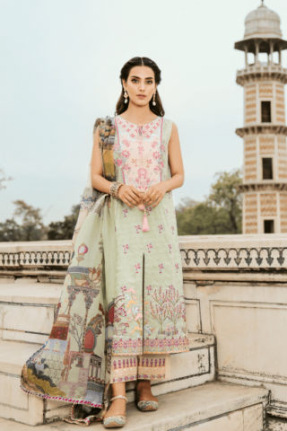 QALAMKAR LUXURY FESTIVE COLLECTION 2019 Durah- NR02