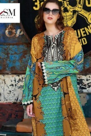 Lakhany Embroidered Lawn Unstitched Kurties 02