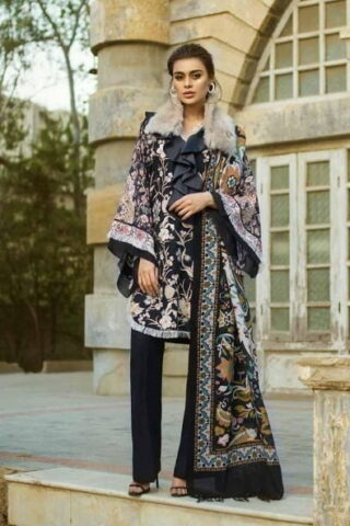 Tena Durrani Winter Shawl Collection by ALZOHAIB - TD 04B-1