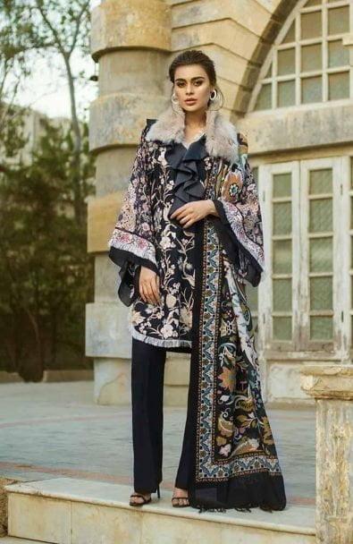 Tena Durrani Winter Shawl Collection by ALZOHAIB - TD 04B-1