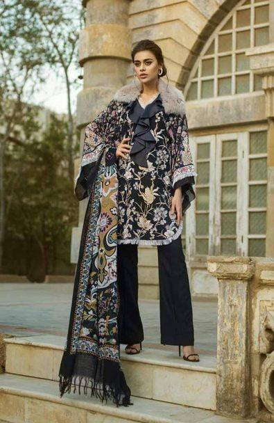 Tena Durrani Winter Shawl Collection by ALZOHAIB - TD 04B-3