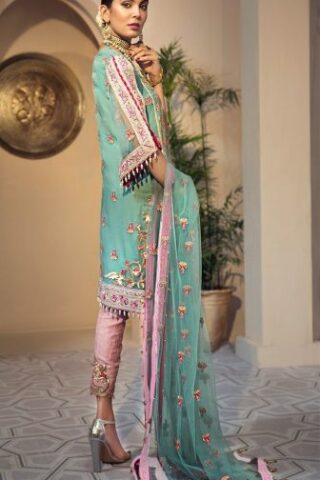 Anaya Isfahan Embroidered Chiffon Unstitched 3 Piece Suit 2019 03 GULBAHAR