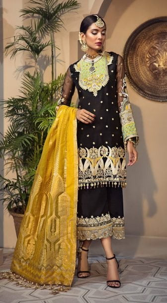 Anaya Isfahan Embroidered Chiffon Unstitched 3 Piece Suit 2019 07 MAHNAZ