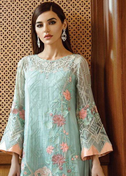 Serene Premium Embroidered Chiffon Festive Collection 2019 09 Exquisite Elan
