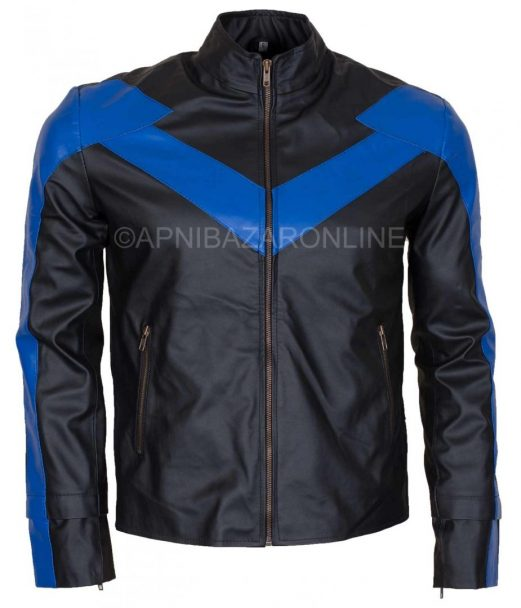 The Wing Adult Mens Faux Night Leather Jacket Costume DMLJ-11