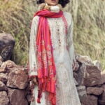 MARIA B LUXURY LINEN COLLECTION 2019 DL-704-Off White 04.02