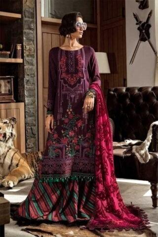 MARIA B LUXURY LINEN COLLECTION 2019 DL-706-Purple 06.01