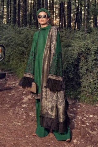 MARIA B LUXURY LINEN COLLECTION 2019 DL-712-Emerald Green 12.01