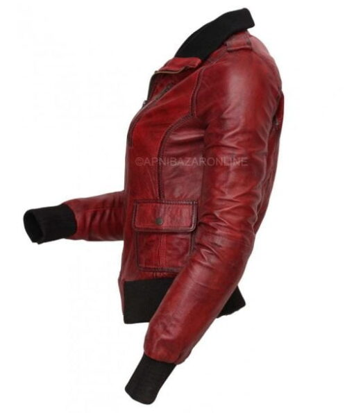 Women Hand Faxed Genuine Leather Jacket DWLJ-06