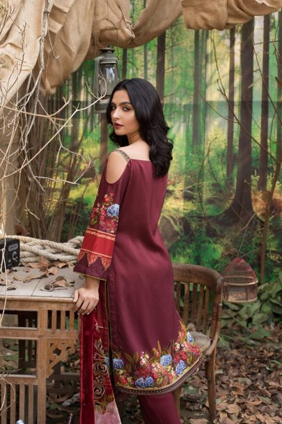 Maira Ahsan Embroidered Linen Palachi Collection 2020 - Winter Collection MAP19-01