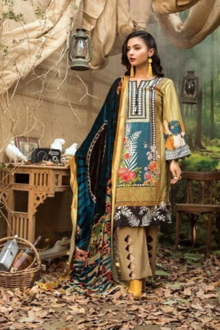 Maira Ahsan Embroidered Linen Palachi Collection 2020 - Winter Collection MAP19-03