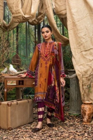 Maira Ahsan Embroidered Linen Palachi Collection 2020 - Winter Collection MAP19-09
