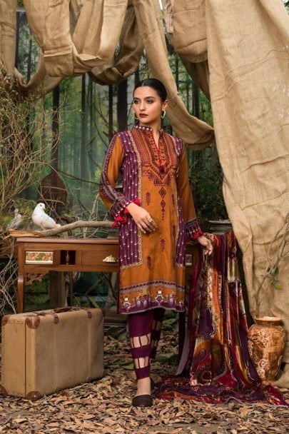 Maira Ahsan Embroidered Linen Palachi Collection 2020 – Winter Collection MAP19-09
