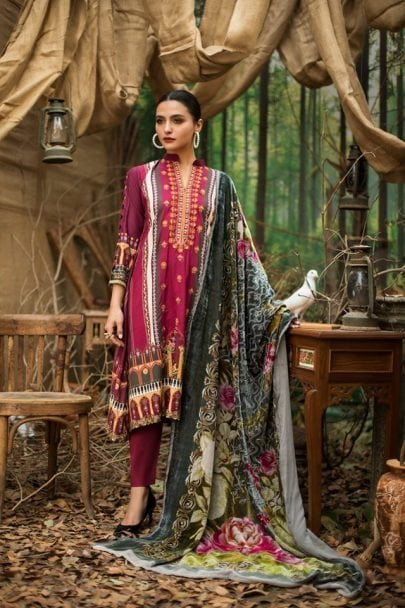 Maira Ahsan Embroidered Linen Palachi Collection 2020 - Winter Collection MAP19-10