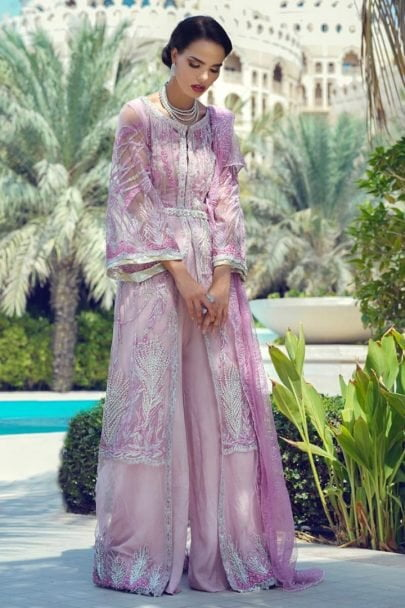 Mushq Luxury Wedding Collcection Unstitched 3 pcs Suit MLW19-06 CASHMERE ROSE