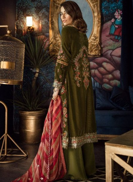 Unstitched 3 Pcs Iznik Luxury Velvet Collection 2020 – Winter Collection ILV-03 Seaweed
