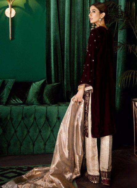 Iznik Luxury Velvet Unstitched 3 Pcs Collection 2020 - Winter Collection ILV-11 Vogue