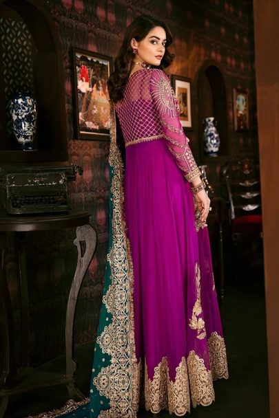 Imrozia Embroidered Chiffon Unstitched 3pcs Suit 2020 Collection IMPC20 101 Berry Glaze