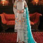 Imrozia Embroidered Chiffon Unstitched 3pcs Suit 2020 Collection IMPC20 108 Glimmering Maya